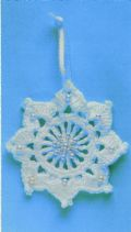 Digital Download PDF Vintage Crochet Pattern Snowflake Window Charm/Christmas Tree Decoration 3-4''